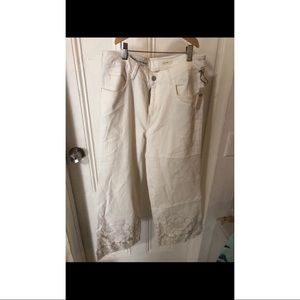 Pilero White Jean pants